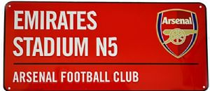 Arsenal FC Emirates Stadium (red) metal street sign (bb)